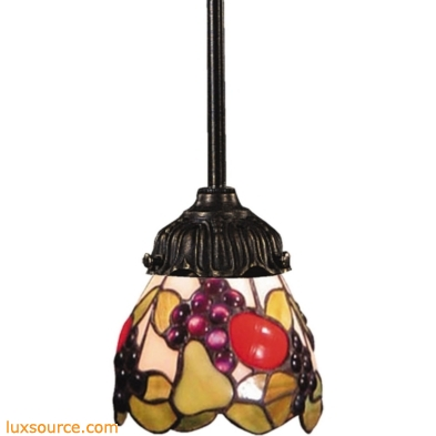 Mix-N-Match 1 Light Pendant In Tiffany Bronze And Multicolor Glass 078-TB-19