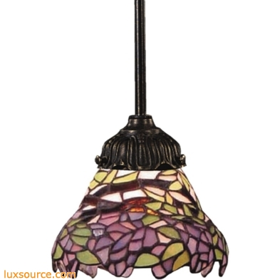 Mix-N-Match 1 Light Pendant In Tiffany Bronze And Multicolor Glass 078-TB-28