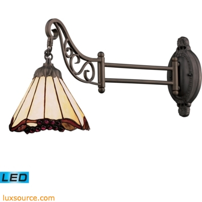 Mix-N-Match 1 Light LED Swingarm In Tiffany Bronze And Honey Dune Glass 079-TB-03-LED