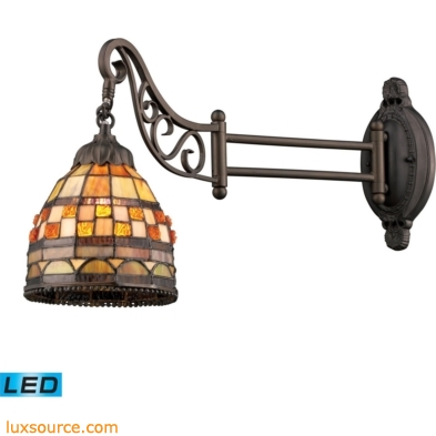 Mix-N-Match 1 Light LED Swingarm In Classic Bronze 079-TB-10-LED
