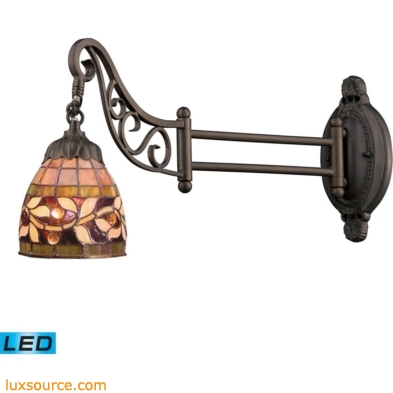 Mix-N-Match 1 Light LED Swingarm In Tiffany Bronze 079-TB-13-LED