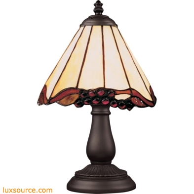 Mix-N-Match 1 Light Table Lamp In Tiffany Bronze And Honey Dune Glass 080-TB-03