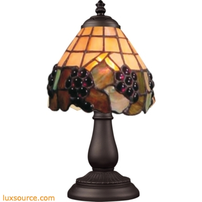 Mix-N-Match 1 Light Table Lamp In Vintage Antique And Stained Glass 080-TB-07