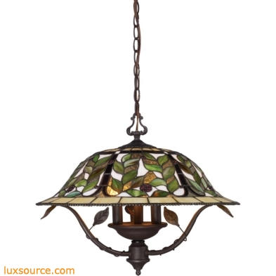 Latham 3 Light Chandelier In Tiffany Bronze