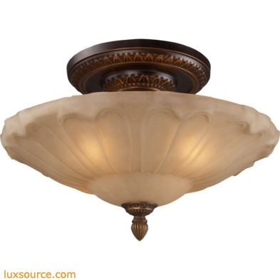 Restoration Flushes 4 Light Semi Flush In Antique Golden Bronze 08093-AGB