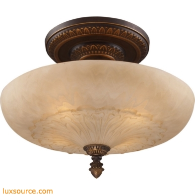 Restoration Flushes 4 Light Semi Flush In Antique Golden Bronze 08095-AGB