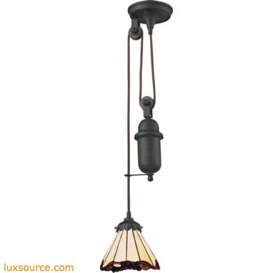 Mix-N-Match 1 Light Pulldown Pendant In Tiffany Bronze 081-TB-03