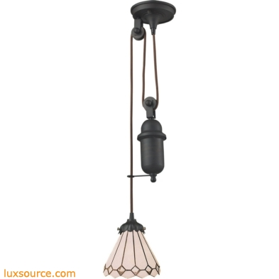 Mix-N-Match 1 Light Pulldown Pendant In Tiffany Bronze 081-TB-04