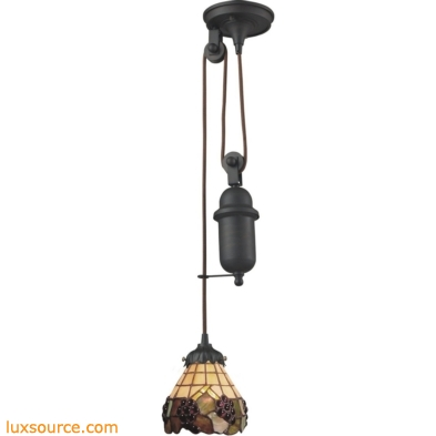 Mix-N-Match 1 Light Pulldown Pendant In Vintage Antique 081-TB-07