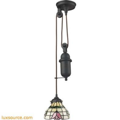 Mix-N-Match 1 Light Pulldown Pendant In Tiffany Bronze 081-TB-09