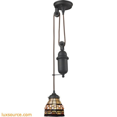Mix-N-Match 1 Light Pulldown Pendant In Classic Bronze 081-TB-10