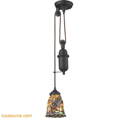 Mix-N-Match 1 Light Pulldown Pendant In Tiffany Bronze 081-TB-12