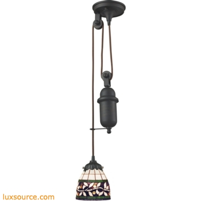 Mix-N-Match 1 Light Pulldown Pendant In Tiffany Bronze 081-TB-13
