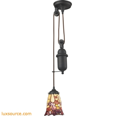 Mix-N-Match 1 Light Pulldown Pendant In Tiffany Bronze 081-TB-17