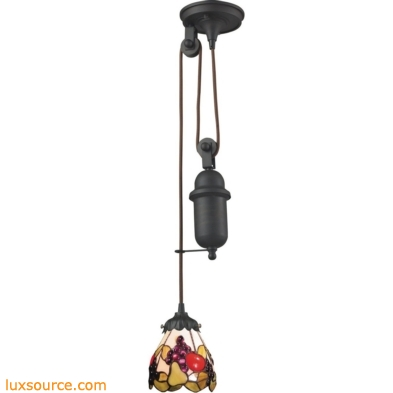 Mix-N-Match 1 Light Pulldown Pendant In Tiffany Bronze 081-TB-19