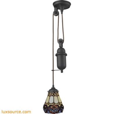 Mix-N-Match 1 Light Pulldown Pendant In Tiffany Bronze 081-TB-21