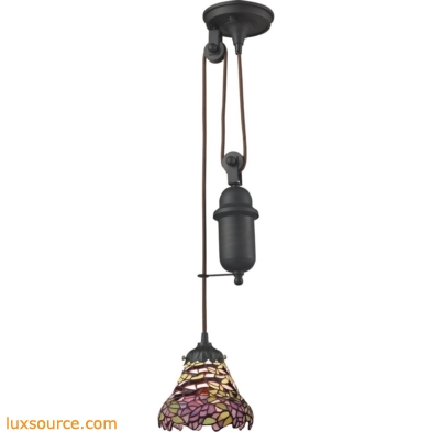 Mix-N-Match 1 Light Pulldown Pendant In Tiffany Bronze 081-TB-28