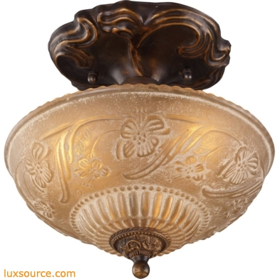 Restoration Flushes 3 Light Semi Flush In Antique Golden Bronze 08103-AGB