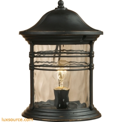 Madison 1 Light Outdoor Post Lamp In Matte Black