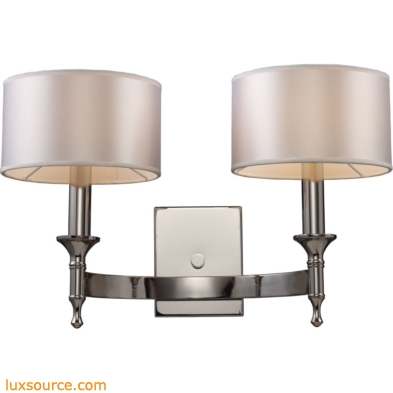 Pembroke 2 Light Wall Sconce In Polished Nickel 10122/2