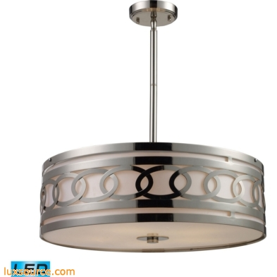 Zarah 5 Light LED Pendant In Polished Nickel