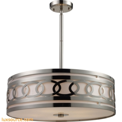 Zarah 5 Light Pendant In Polished Nickel
