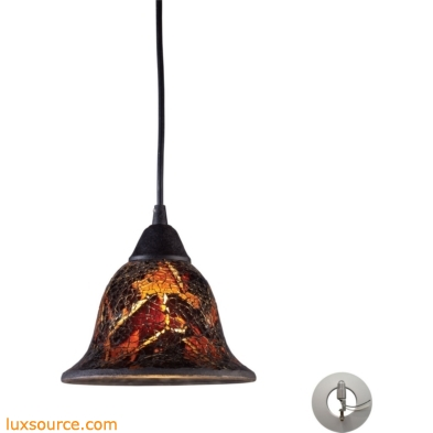 Firestorm 1 Light Pendant In Dark Rust - Includes Recessed Lighting Kit 10144/1FS-LA