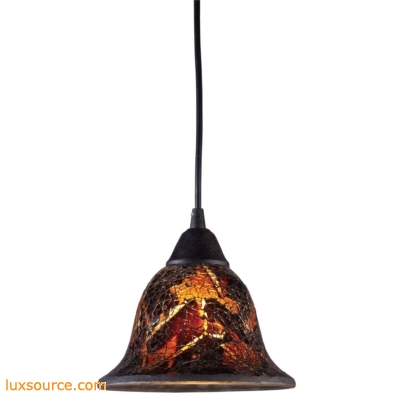 Firestorm 1 Light LED Pendant In Dark Rust 10144/1FS-LED