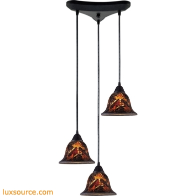 Firestorm 3 Light Pendant In Dark Rust 10144/3FS