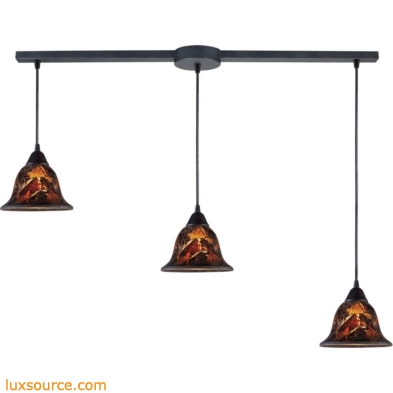Firestorm 3 Light Pendant In Dark Rust 10144/3L-FS