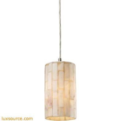 Coletta 1 Light Pendant In Satin Nickel And Genuine Stone 10147/1