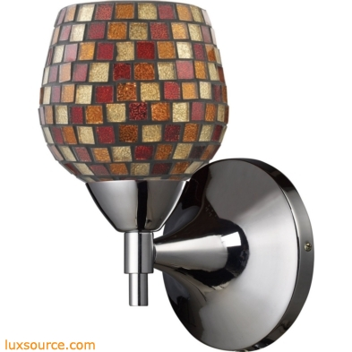 Celina 1 Light Sconce In Polished Chrome And Multi Fusion Glass 10150/1PC-MLT