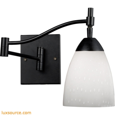 Celina 1 Light Sconce In Dark Rust And Simple White 10151/1DR-WH