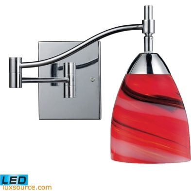 Celina 1 Light LED Swingarm In Polished Chrome And Candy Glass 10151/1PC-CY-LED
