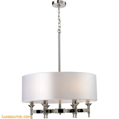 Pembroke 6 Light Chandelier In Polished Nickel 10162/6