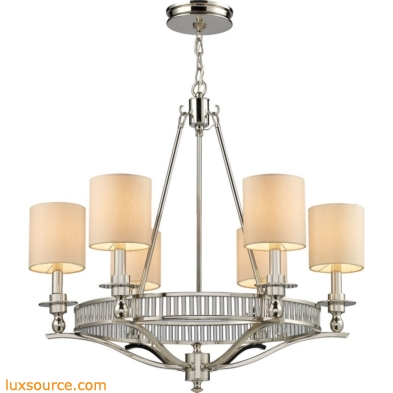 Braxton - Easton 6 Light Chandelier In Polished Nickel
