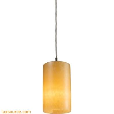 Coletta - Piedra 1 Light LED Pendant In Satin Nickel And Genuine Stone 10169/1-LED