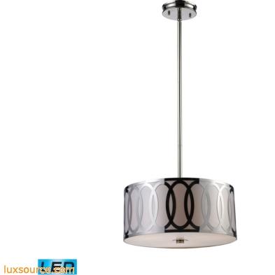 Anastasia 3 Light LED Pendant In Polished Nickel