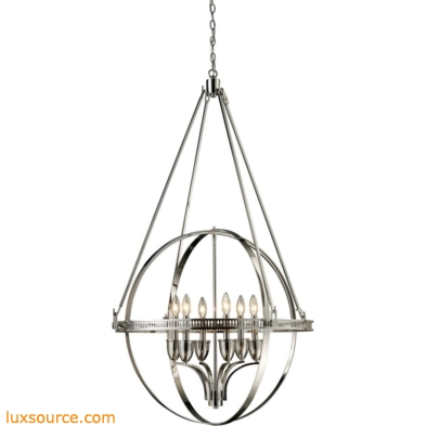 Hemispheres 6 Light Chandelier In Polished Nickel