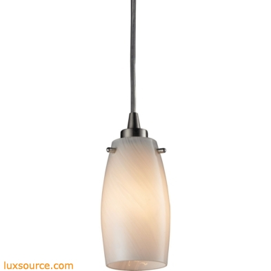 Favelita 1 Light Pendant In Satin Nickel And Cocoa Glass 10223/1COC