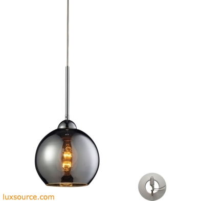 Cassandra 1 Light Pendant In Polished Chrome With Adapter Kit 10240/1CHR-LA