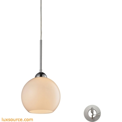 Cassandra 1 Light Pendant In Polished Chrome With Adapter Kit 10240/1WH-LA