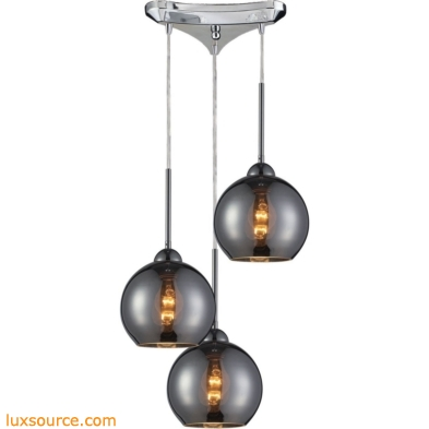 Cassandra 3 Light Pendant In Polished Chrome 10240/3CHR