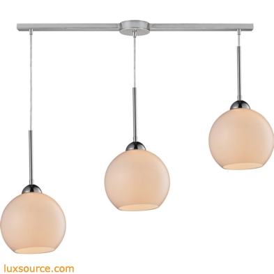 Cassandra 3 Light Pendant In Polished Chrome 10240/3L-WH