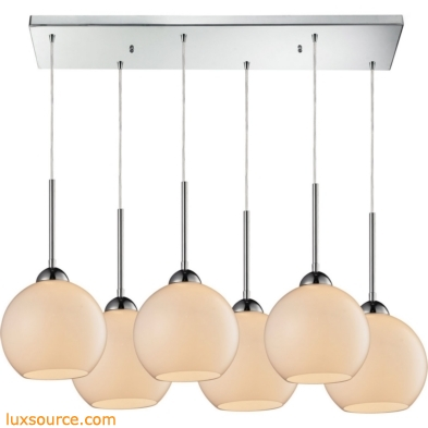 Cassandra 6 Light Pendant In Polished Chrome 10240/6RC-WH