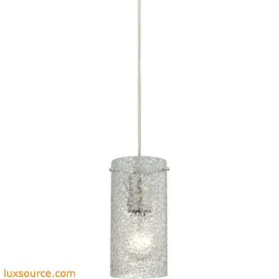 Ice Fragments 1 Light Pendant In Satin Nickel And Clear Glass 10242/1CL