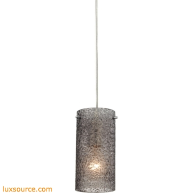 Ice Fragments 1 Light Pendant In Satin Nickel And Smoke Glass 10242/1SM
