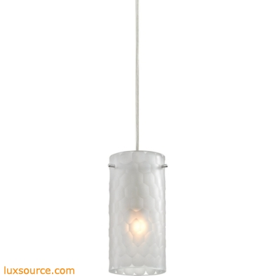Synthesis 1 Light Pendant In Satin Nickel And Frosted Clear Glass 10243/1FC
