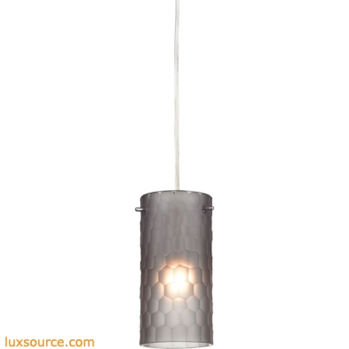 Synthesis 1 Light Pendant In Satin Nickel And Frosted Smoke Glass 10243/1FSM