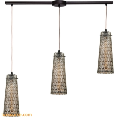 Jerard 3 Light Pendant In Oil Rubbed Bronze And Mercury Glass 10248/3L